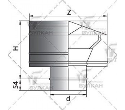 Дефлектор d=115 мм.