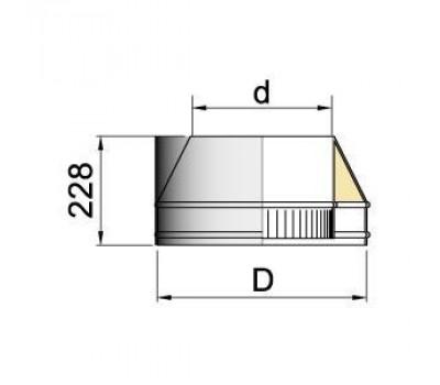 конус d= 180 мм.