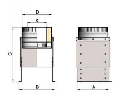 Основание напольное d=100 мм.