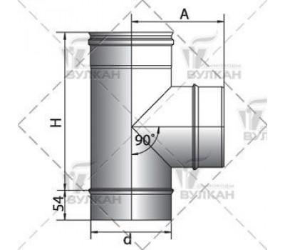 Тройники  90º  d=115 мм.