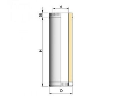 Труба  L = 1000 мм d=115 мм