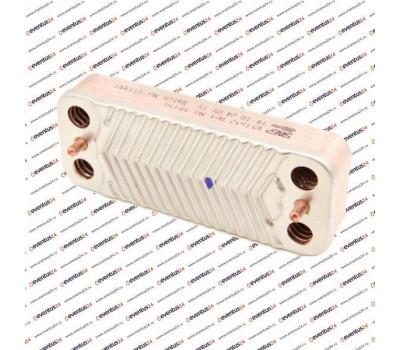 Теплообменник ГВС Zilmet 1901206 - 12 пластин 192 x 154 (21000605201100, 1.022219, 8705406264, Z828745)