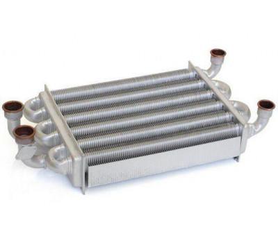 Теплообменник битермический подходит для BAXI Mainfour 18 / WESTEN Quasar D24F 5700520