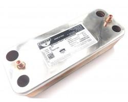 Теплообменник ГВС 17B2071606 (производитель-ZILMET) подходит для ARISTON 998483/PROTHERM 002011960