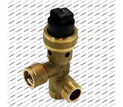 Трехходовой клапан в сборе с байпасом С МОТОРОМ (252457)